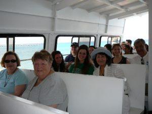Das sieht nach Urlaub aus, ist aber keiner: Das deutsch-amerikanische Team auf der Rückfahrt von der Insel Cozumel.