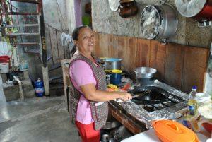 Für Frühstück und Abendessen sorgt Rosita.