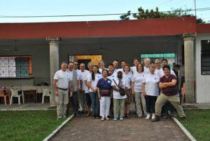 Quintana Roo 2016: Abschiedsfoto. Ab Montag arbeitet ein neues Team in Bacalar.