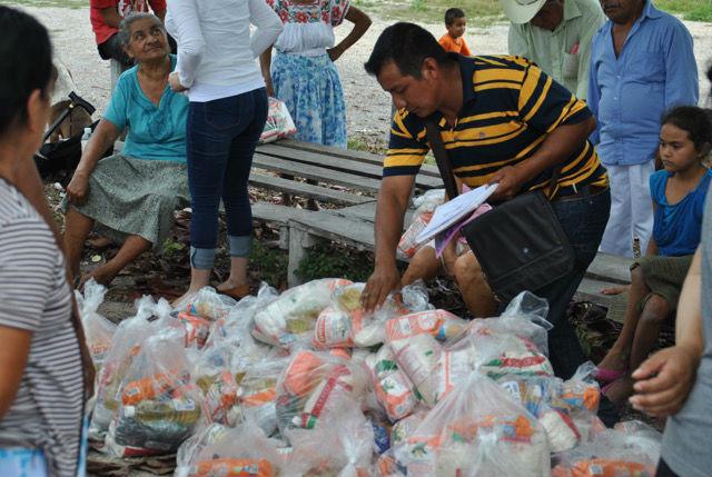 Lebensmittelausgabe in Zamora